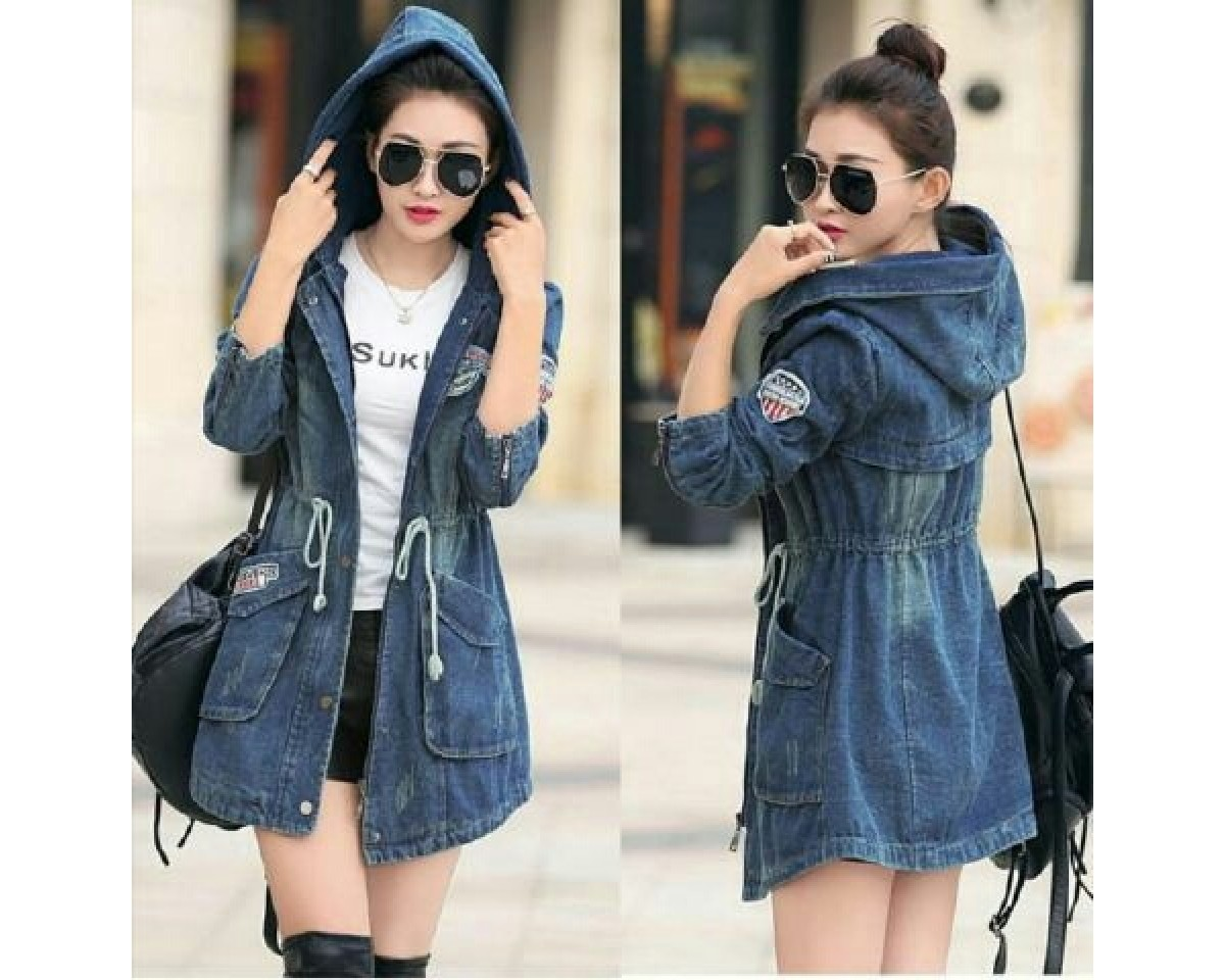 Baju Korea Jkt Lerose Vb Denim