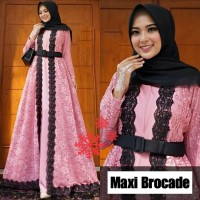 Baju Wanita Hj Maxi Brocade Vs Dusty