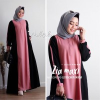 Baju Korea Hj Maxi Zia On Pink