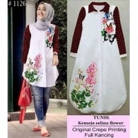 Baju Korea Tunik Selina Red