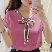 Baju Korea Blouse Laura Ff Dusty