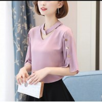 Baju Wanita Blouse Evelyn Dusty