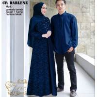 Baju Couple Cp Darlene Ff Navy