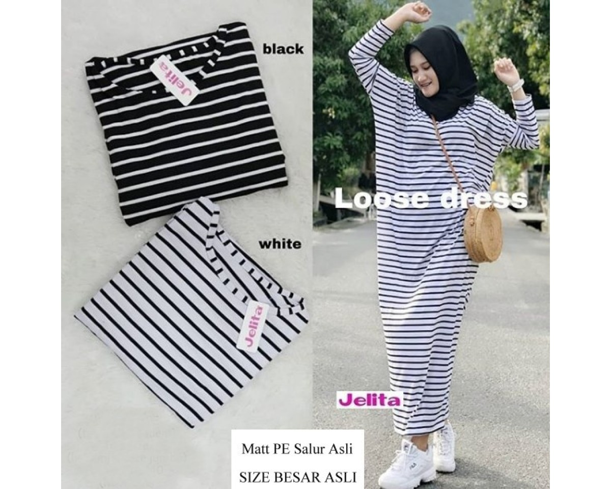 Baju Korea Long Drs Loose Sf