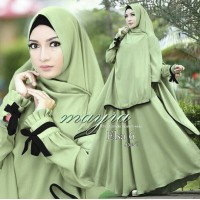 Baju Korea Hj Maxi Elsa Ks Light Green