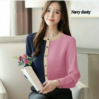 Baju Korea Blouse Jelin Ij Dusty