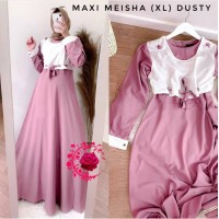 Baju Korea Hj Maxi Meisha Mb Dusty