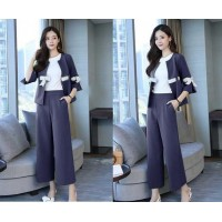 Baju Korea St 2In1 Ribbon Sm Navy