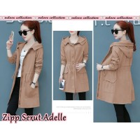 Baju Korea Coat Zipper Adelle Vl Coksu