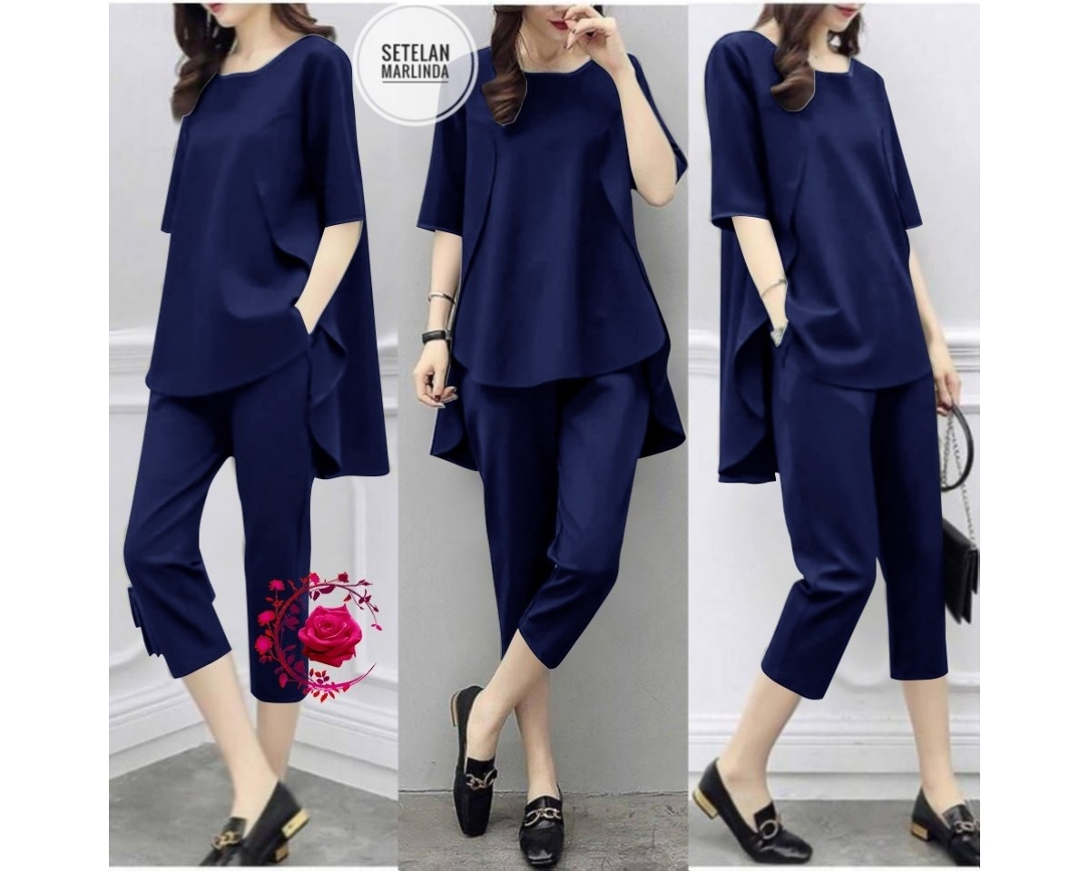 Baju Korea St Marlindanew Mb Navy