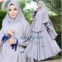 Baju Korea Hj Maxi Elsa New Abu List Navy