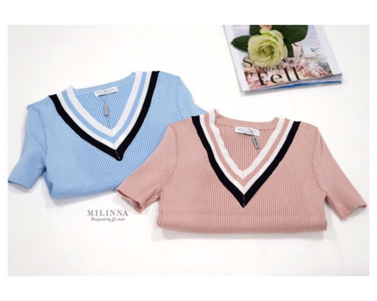 Baju Korea Top Olivia Knit Dr