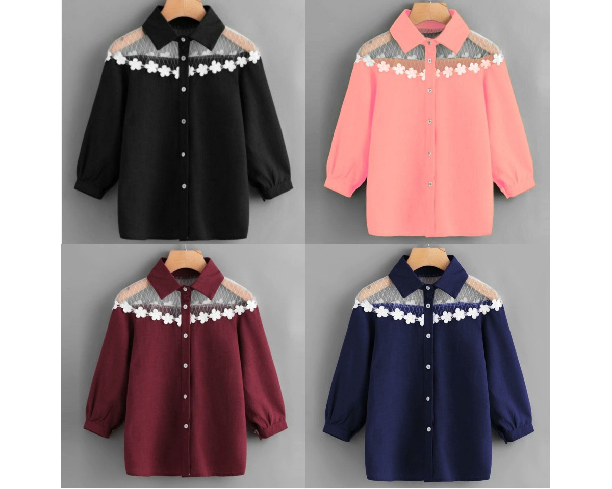 Baju Korea Blouse Renda Fhl