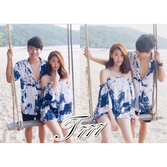 Baju Couple Cp Trending Ql Blue