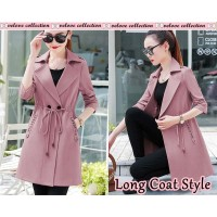 Baju Korea Long Coat Style Dusty Vl