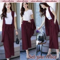 Baju Korea St Alice 3In1 Vl Maroon