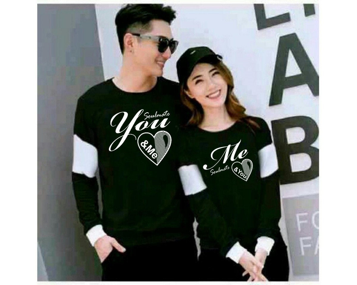 Baju Couple Cp Soulmate Vb Hitam