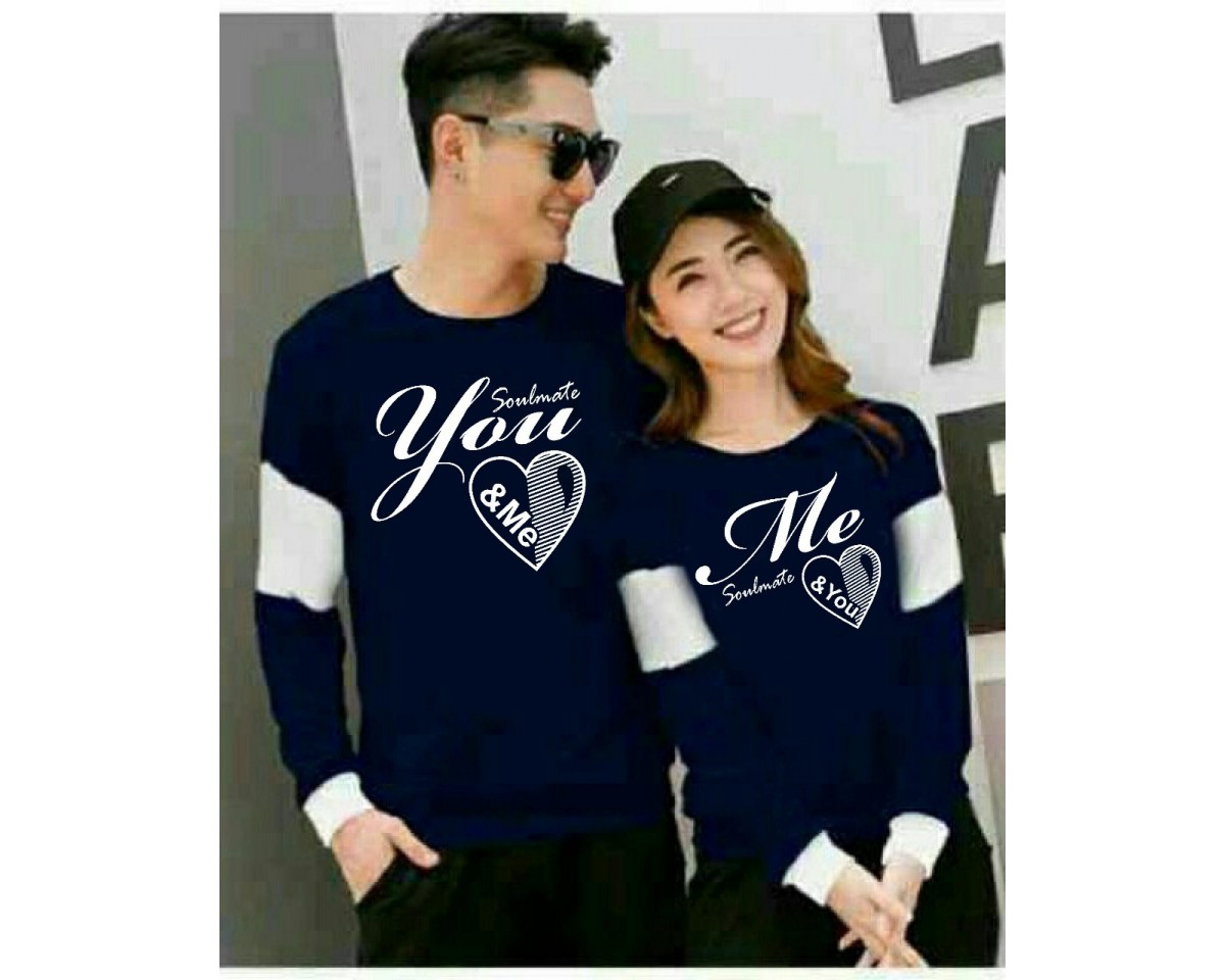 Baju Couple Cp Soulmate Vb Navy
