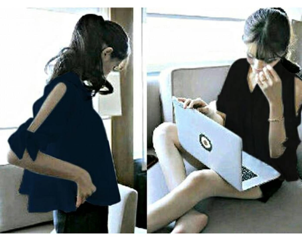 Baju Korea Top Laptopor Girl