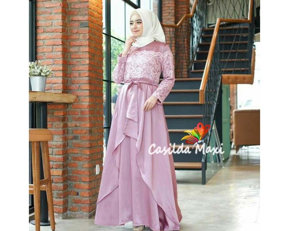 Baju Korea Hj Maxi Casilda Jc Dusty