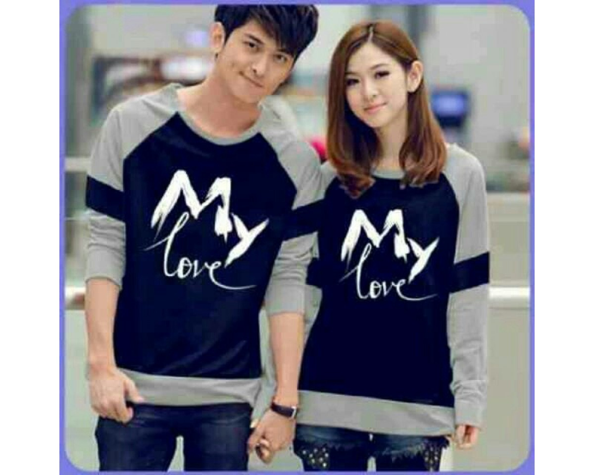 Baju Couple Cp Mylove Navy