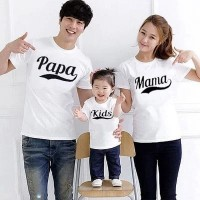 Baju Couple Cp Family Pamakid Putih Ff