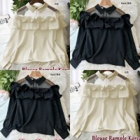 Baju Korea Blouse Korean Vl