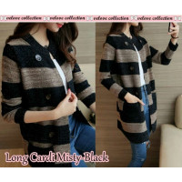 Baju Korea Long Cardi Misty Black