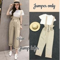 Baju Korea Jumper Lufer Hn Cream
