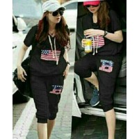 Baju Korea St Boston Vd Hitam