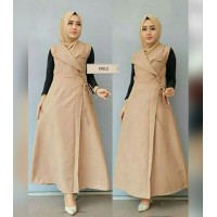 Baju Korea Outer Krillo Sf Milo