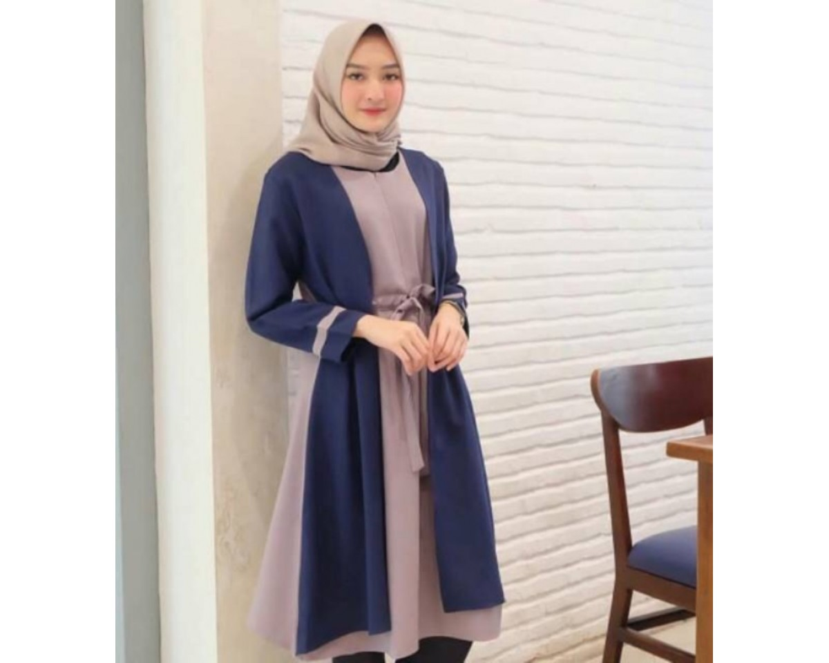 Baju Korea Tunik Tamara Sf Navy