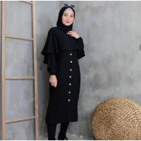 Baju Korea Tunik Cordy Mg Black