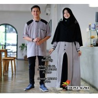 Baju Couple Cp Alzwa Jc Abu Hitam