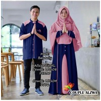 Baju Couple Cp Alzwa Jc Navy Dusty