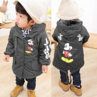 Baju Anak Kd Coat Mickey Ks Abu