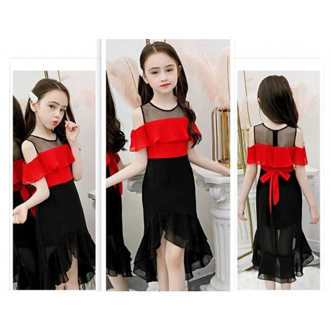 Baju Anak Ld Drs Mona Or Red