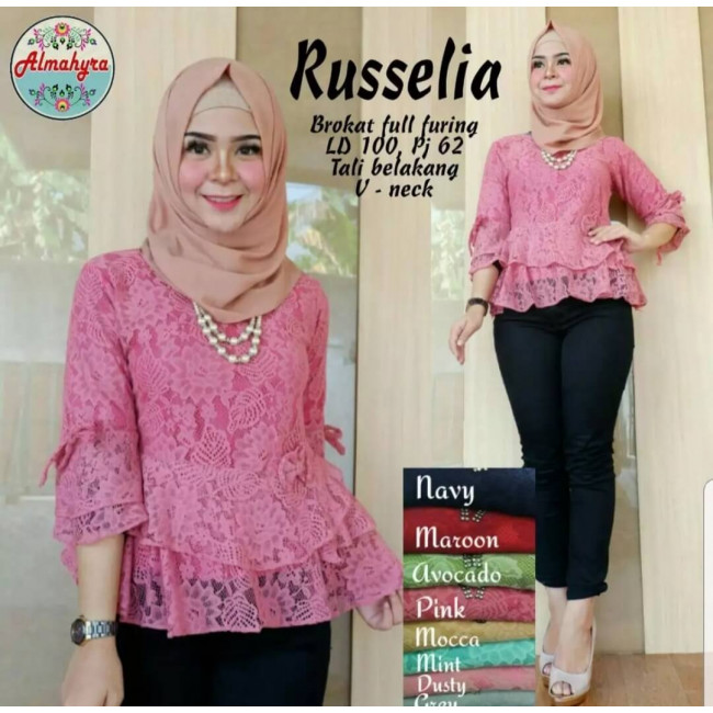 Baju Korea Top Gil Broxane Dusty