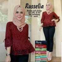 Baju Korea Top Gil Broxane Maroon